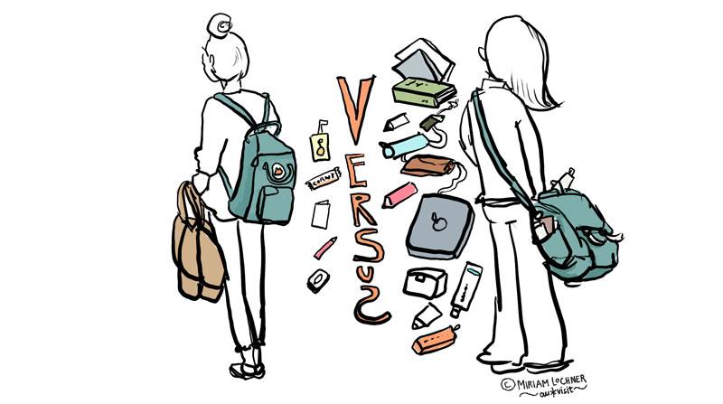 Hat der Tascheninhalt Macht über unsere Frisur?