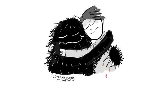 Kuscheln mit Monster