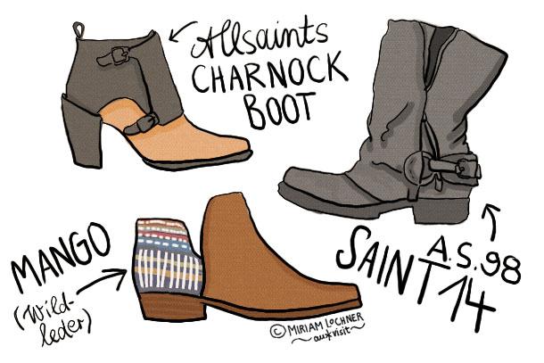 Boots im Herbst