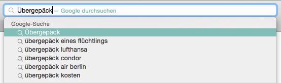 Übergepäck eines Flüchtlings rankt bei Google auf Platz 2