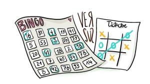 Beziehungs-Bingo vs. Dating-TicTacToe