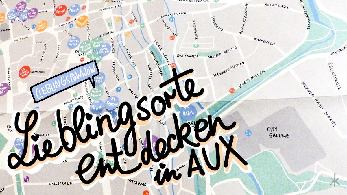 Augsburg Stadtplan von Ines Flögel