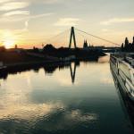 Severinsbrücke mit Kölner Skyline