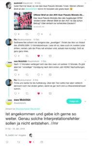 Schnelle Reaktion des AVV auf Twitter
