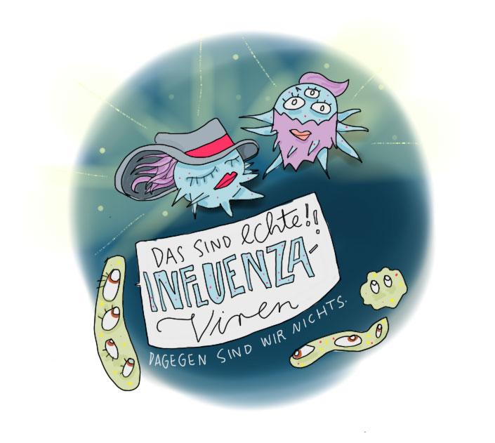 Erkältungsviren vs. richtige Influenza